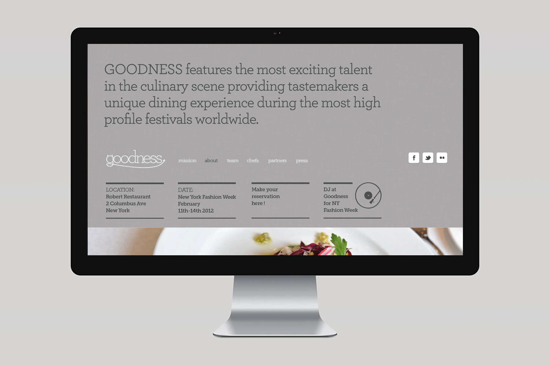 Goodness Pop-Up restaurant / Screendesign