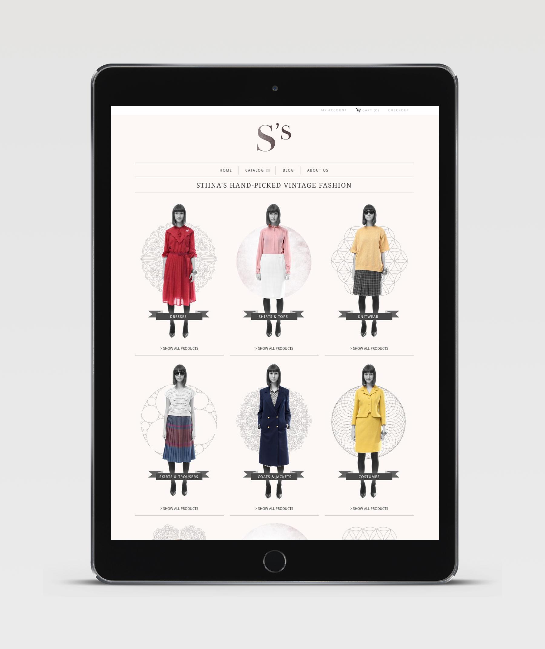 Stiina's Vintage - Identity, Screendesign