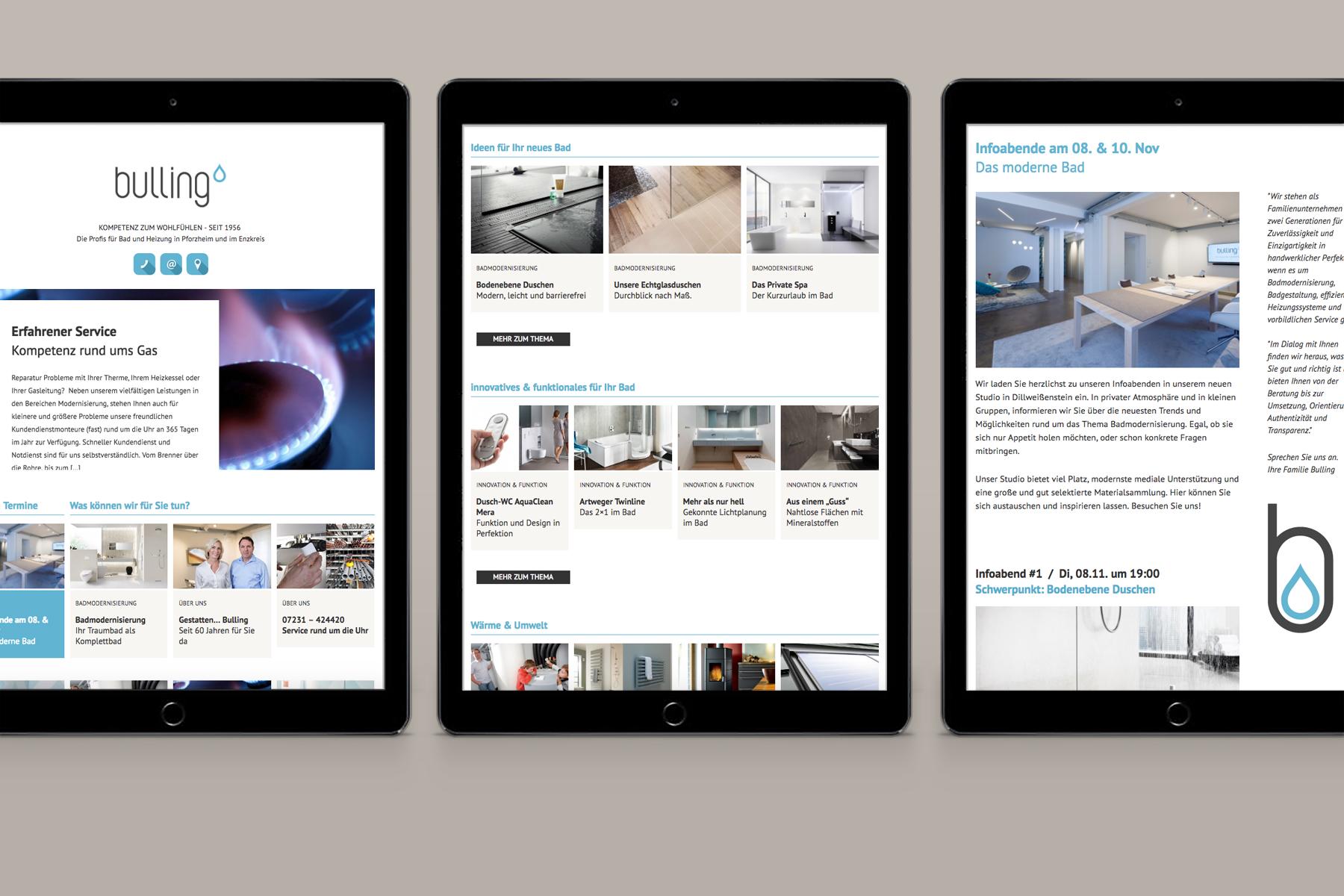 Bulling Bathrooms / Branding, Web, Communication