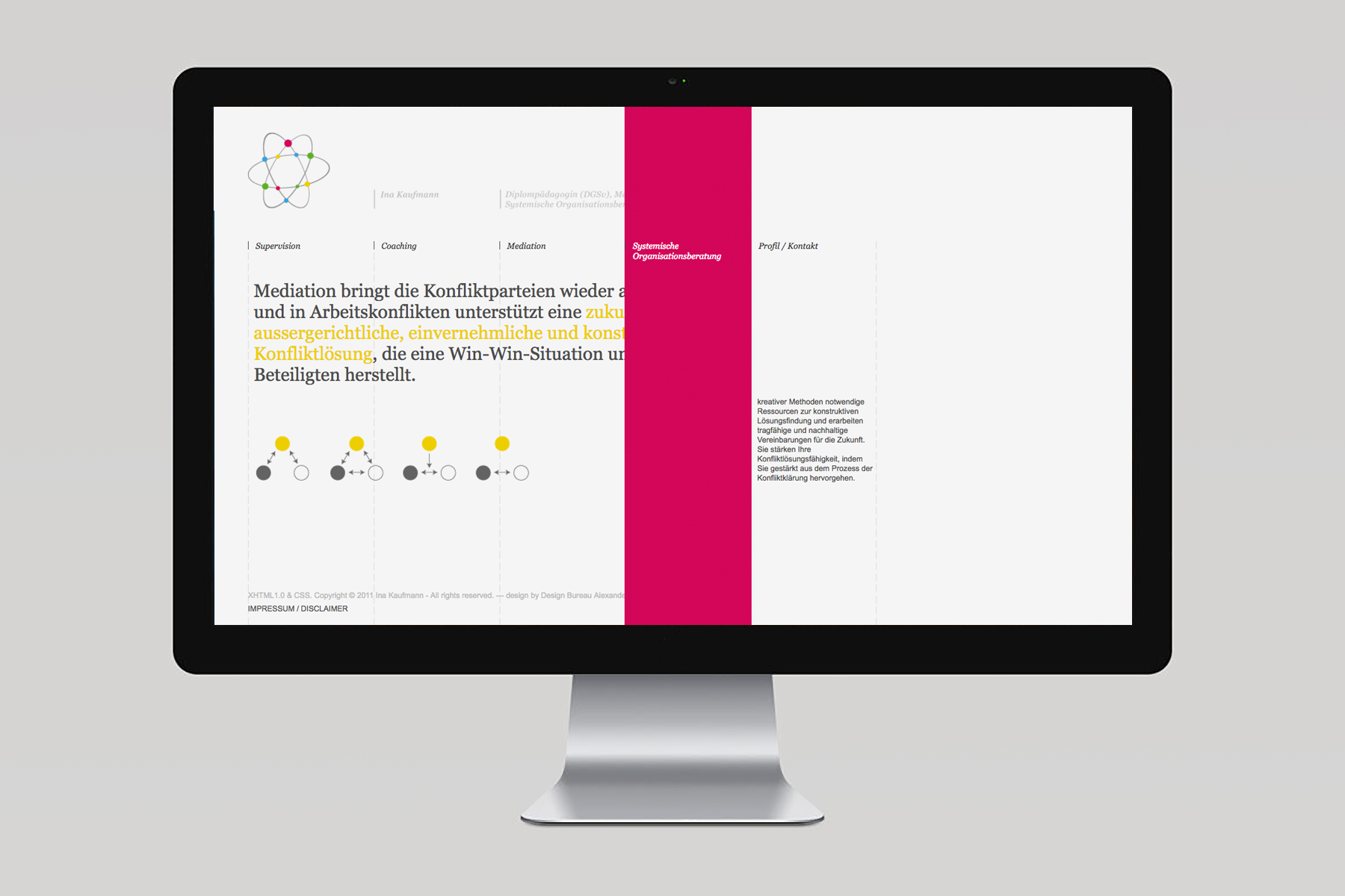 Kaufmann Mediation & Supervision / Webdesign