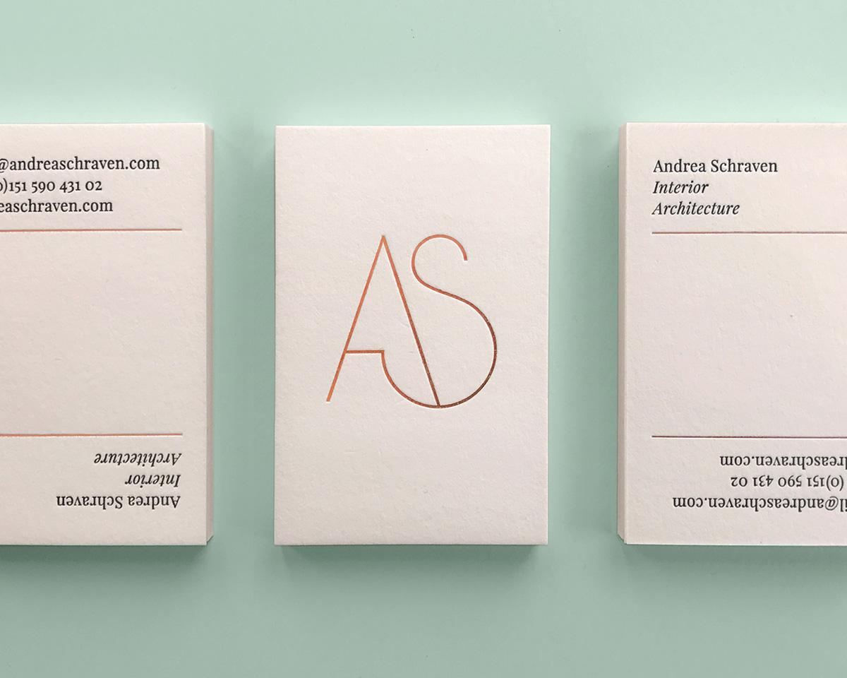 Interior Architect Andrea Schraven / Identity, Web