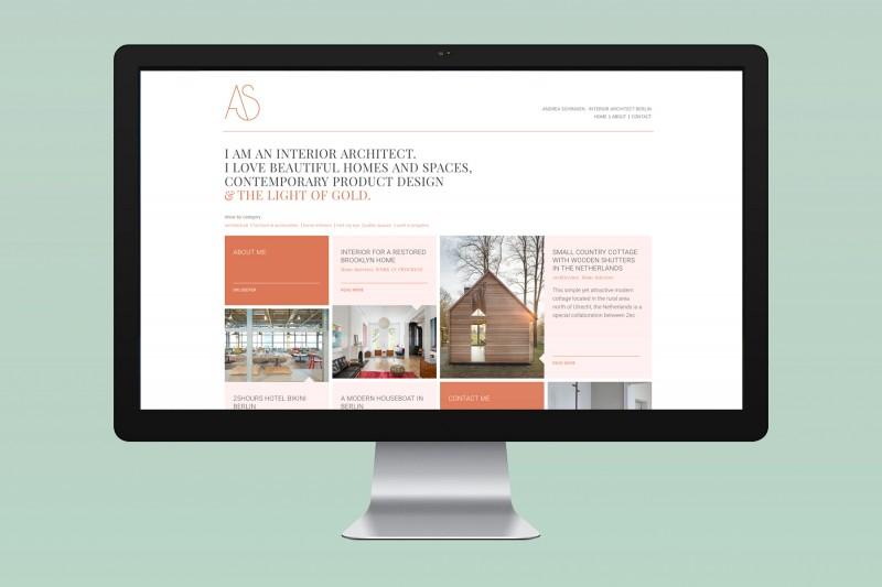 A.S. Innenarchitektur / Identity, Webdesign