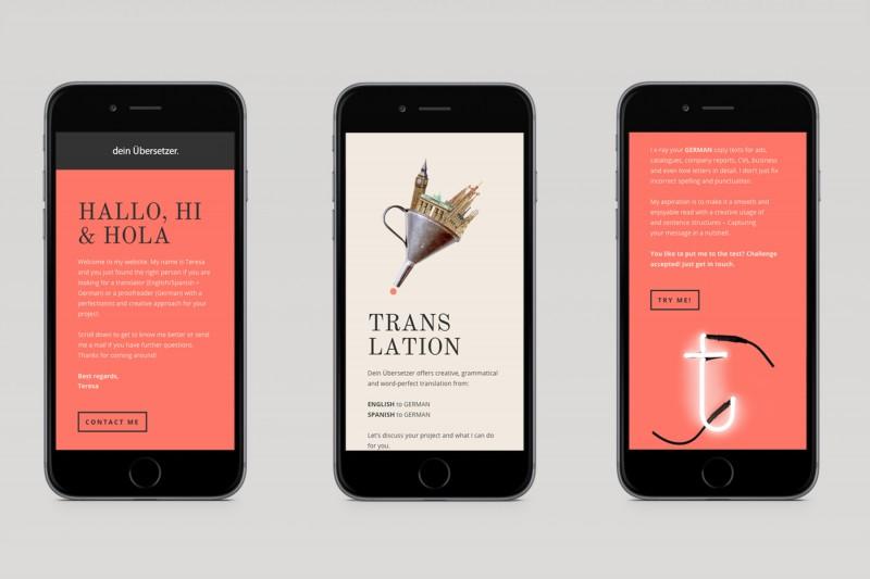 Dein Übersetzer / Webdesign, Illustration
