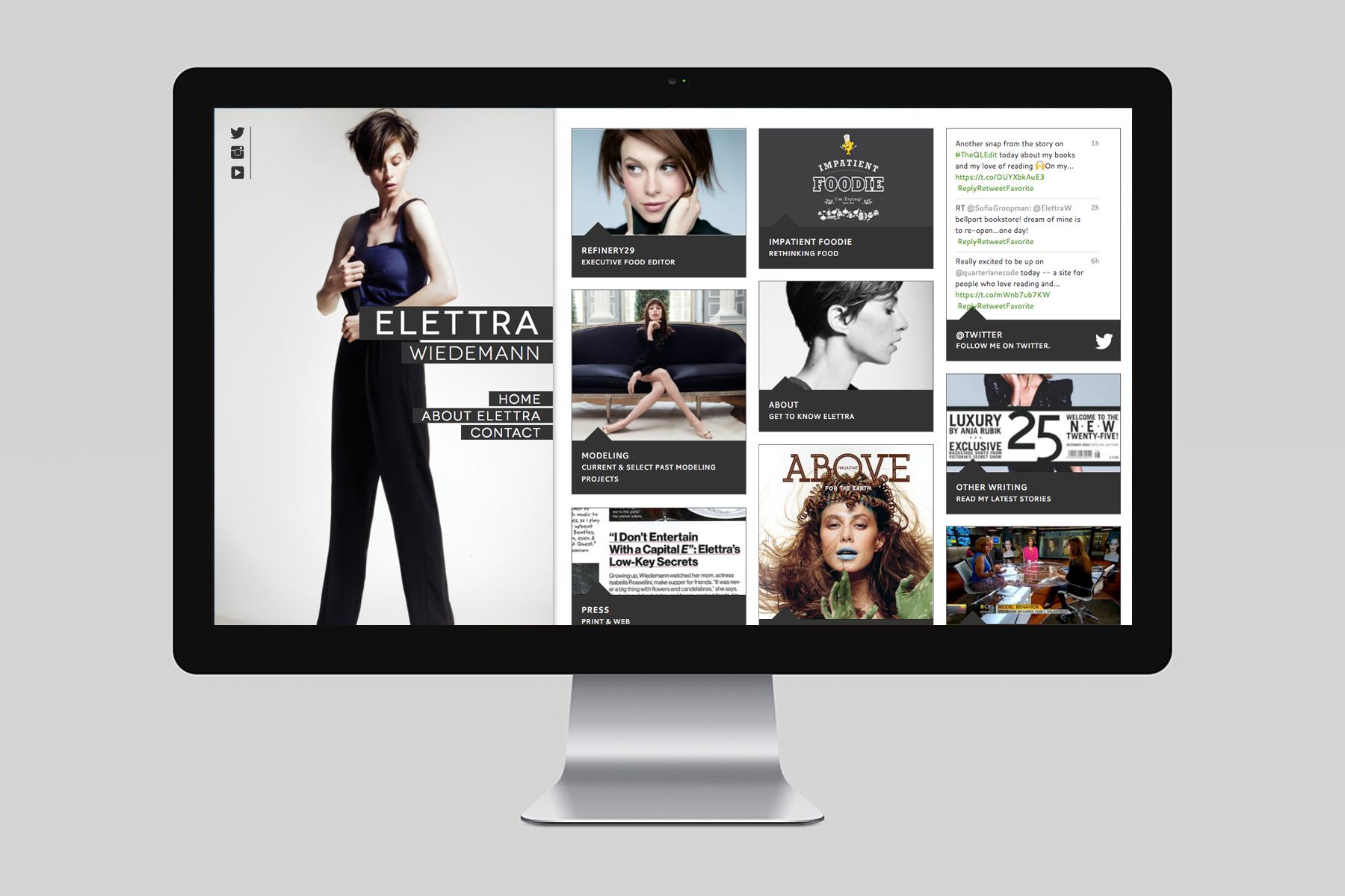 Elettra Wiedemann / Webdesign