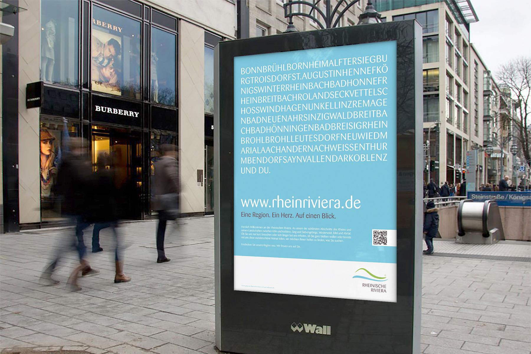 Rheinische Riviera  /  Identity, UI/UX, visuelle Kommunikation