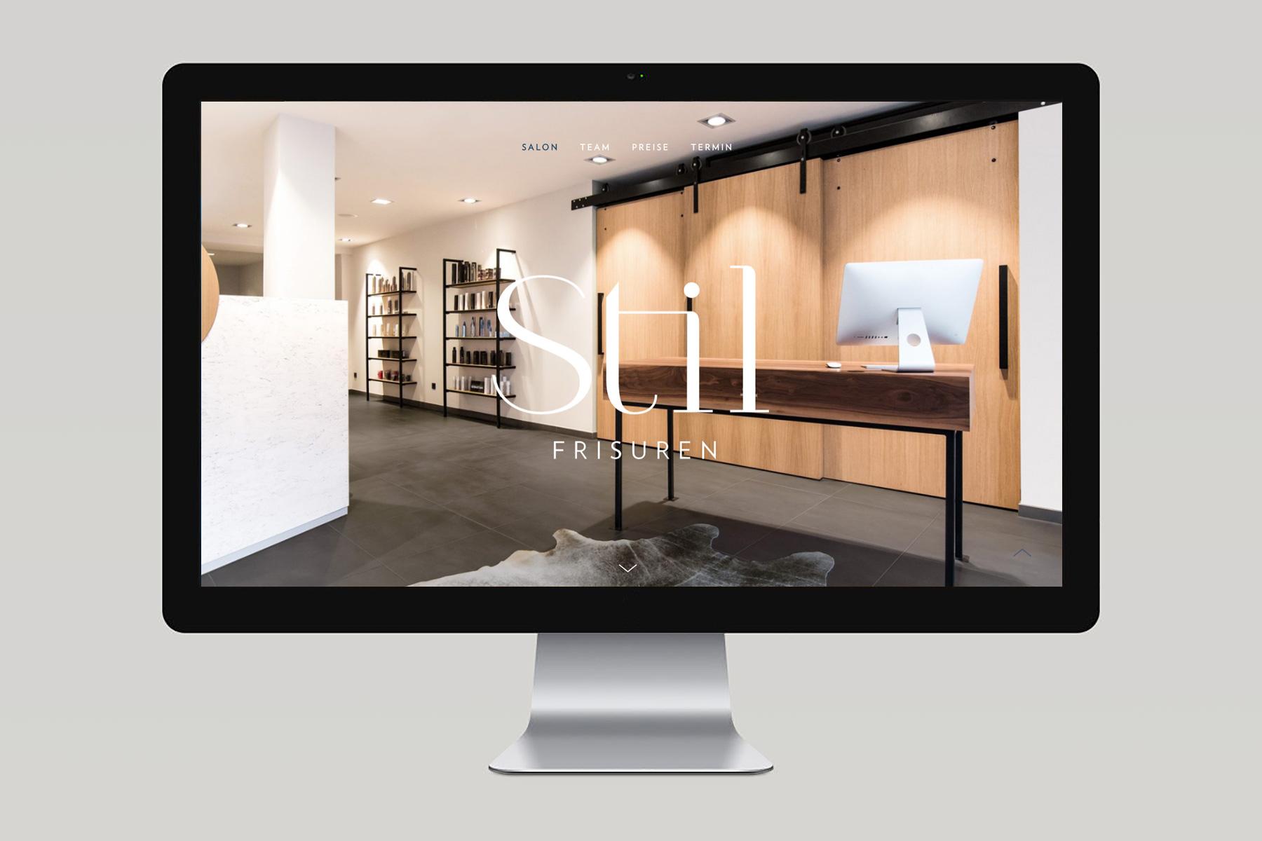 Webdesign Friseursalon Stil Marco Küveler