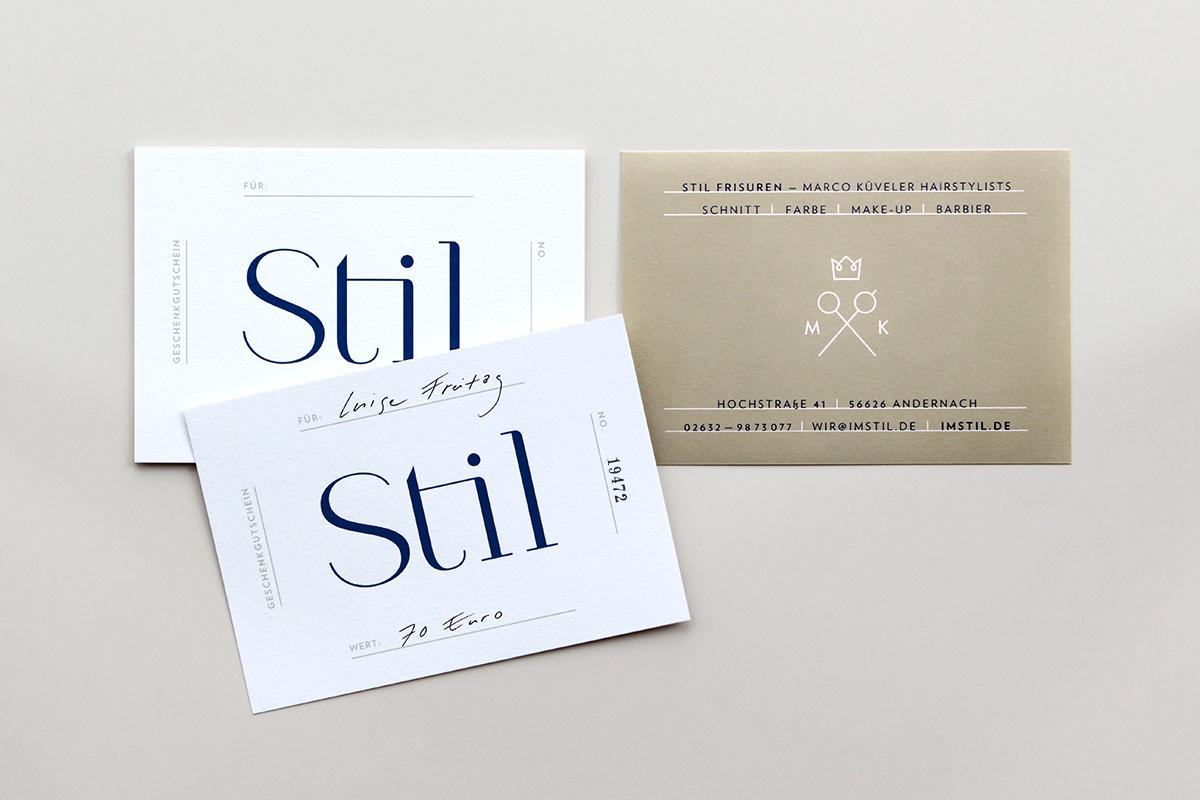 Stil Frisuren / Branding, Interior