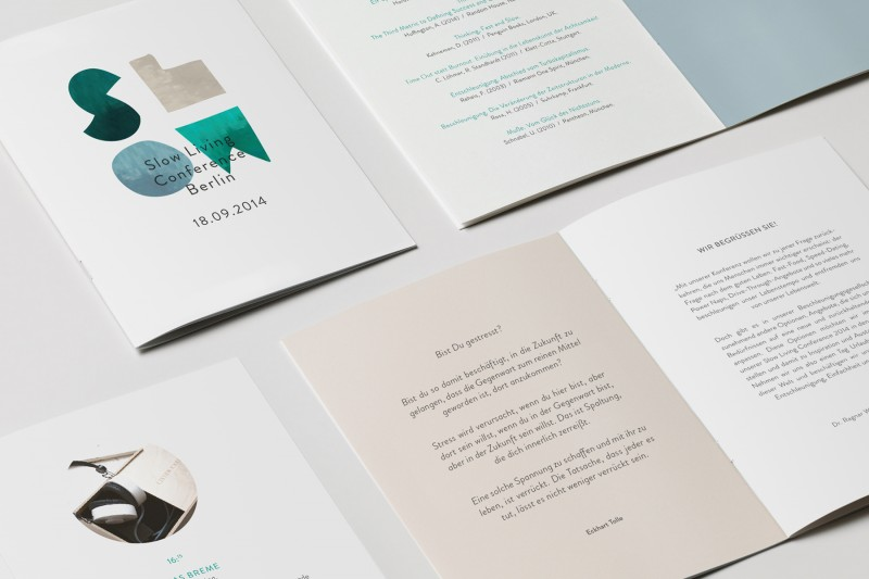 Slow Living Con / Corporate Design, visuelle Kommunikation