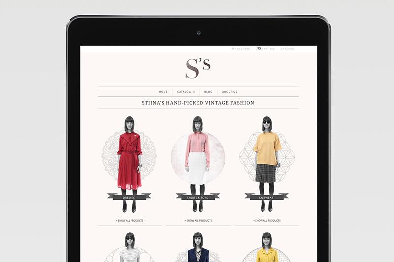Stiina's Vintage / Branding, Webdesign